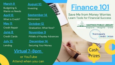 Save Me From Money Worries - Finance 101 with TCU and HPL