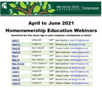 Financial Education from MSU Extension Spring/Summer 2021