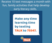 New Early Literacy Resource - TALK