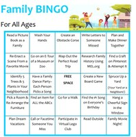 Stay Home BINGO for the Whole Family